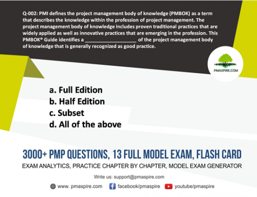 PMP Exam sample Question #1
